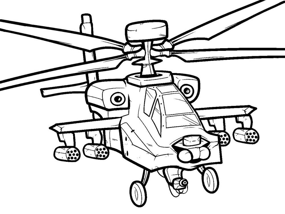 Helicoptero dibujos infantiles para colorear