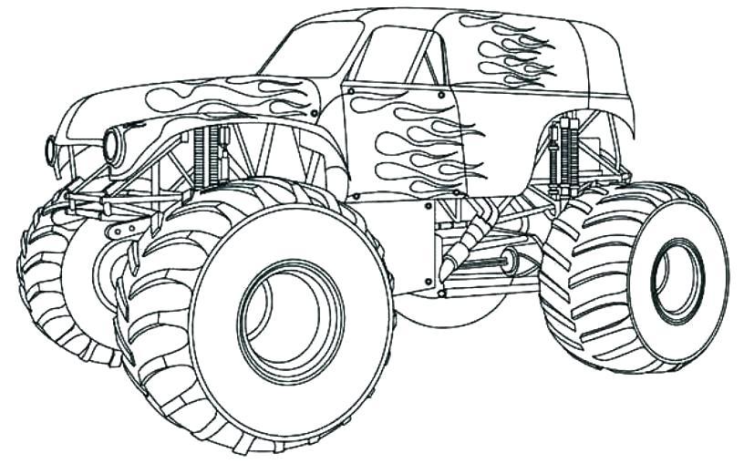 Monster Truck Para Colorear Imprimible Para Monster Truck A La Dibujos Para Colorear De La Biblia Cristiana