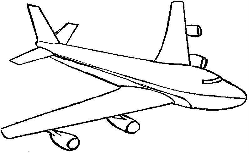 Resultado de imagen para dibujos de aviones para colorear