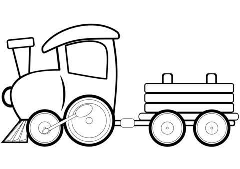 Tren de juguete Dibujo para colorear