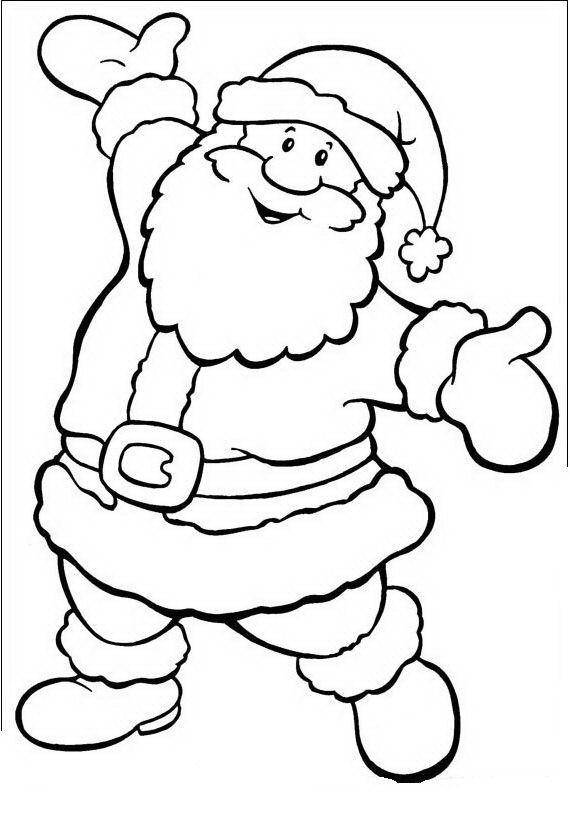 dibujos de navidad de papa noel faciles