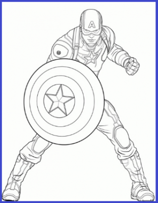 Dibujos de capit n am rica para colorear dibujos para for Stampe da colorare spiderman