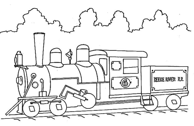 dibujos para colorear trenes