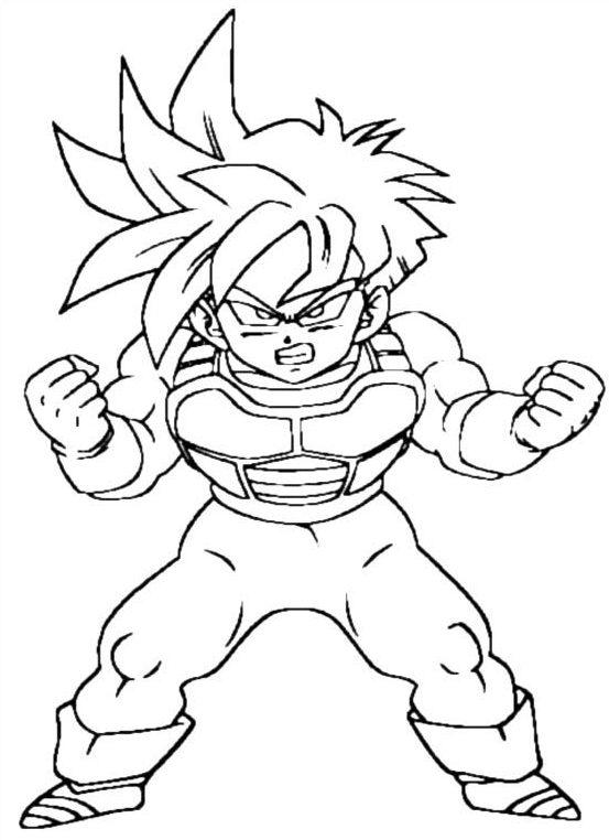 imprimir Colorear Anime Dibujos De Dragón Dibujos Para Pintar Dibujo De Goku e1543880616124