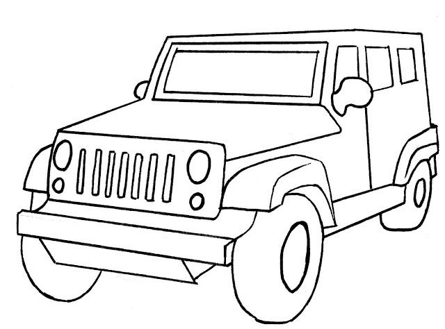 jeep para colorear pintar