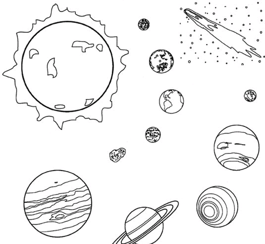 Dibujo de un sistema solar e1546606349860