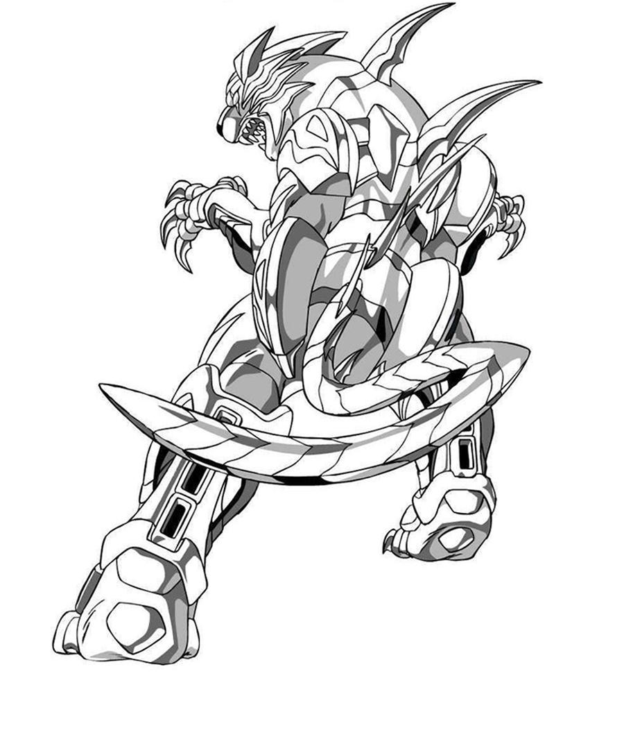Dibujo para imprimir y colorear de Bakugan