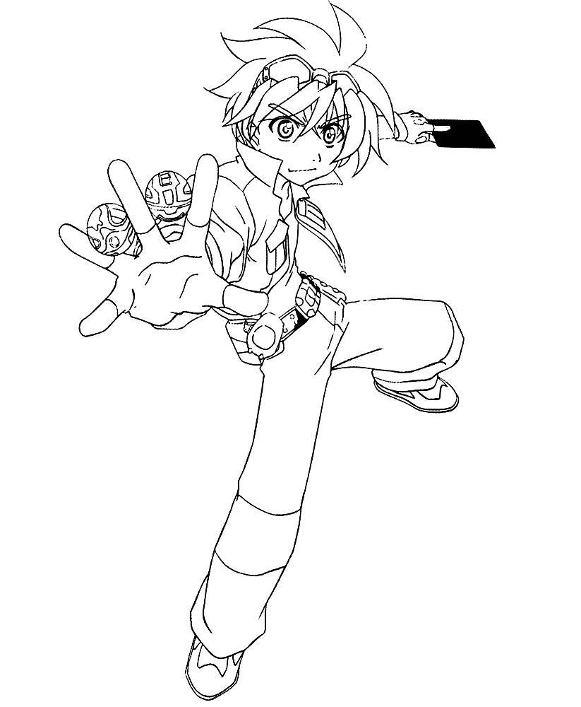 Dibujos animados para colorear Bakugan para niños pequeños
