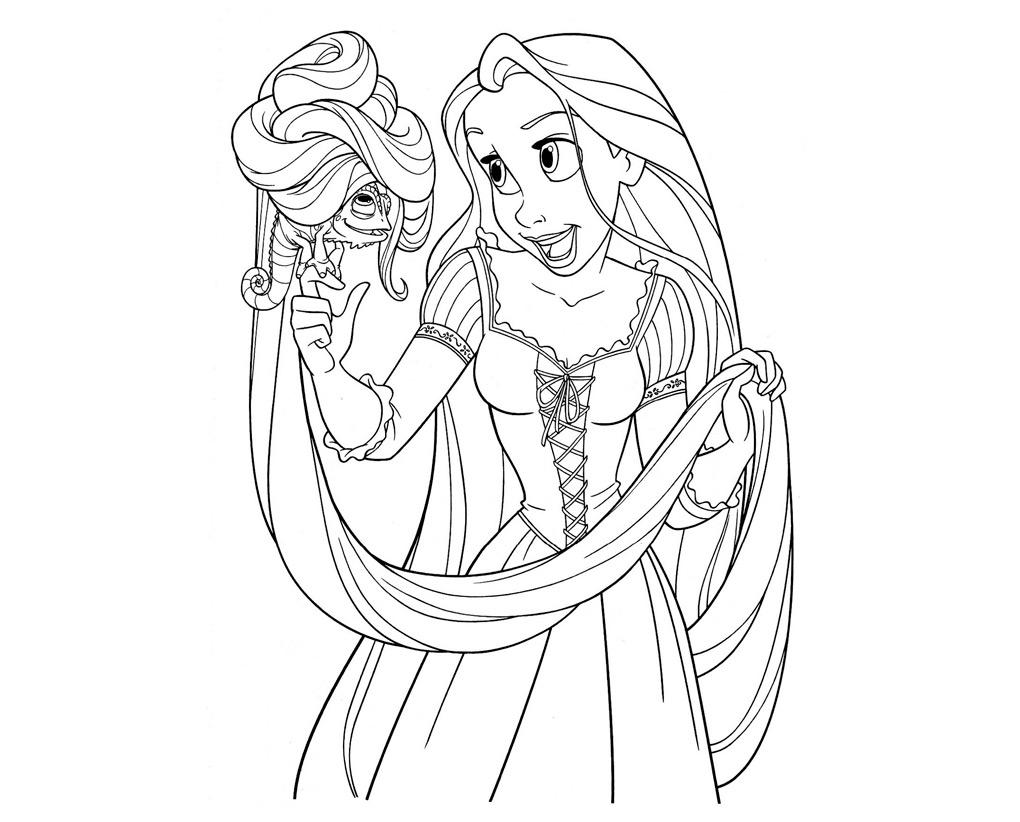 Dibujos de princesas para colorear 01