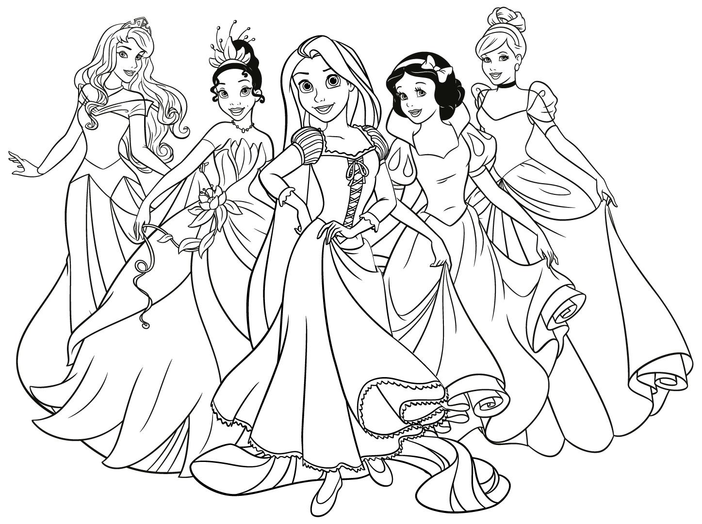 Dibujos princesas disney para colorear