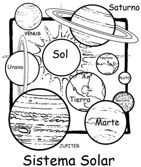 Imagen con los planetas del sistema solar para pintar e1546606389964