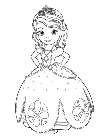 La Princesa Sofía Dibujo para colorear