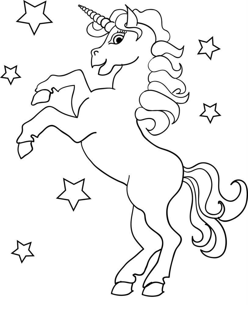 Para Colorear Y Pintar Imprimir Dibujos De Unicornio Niños