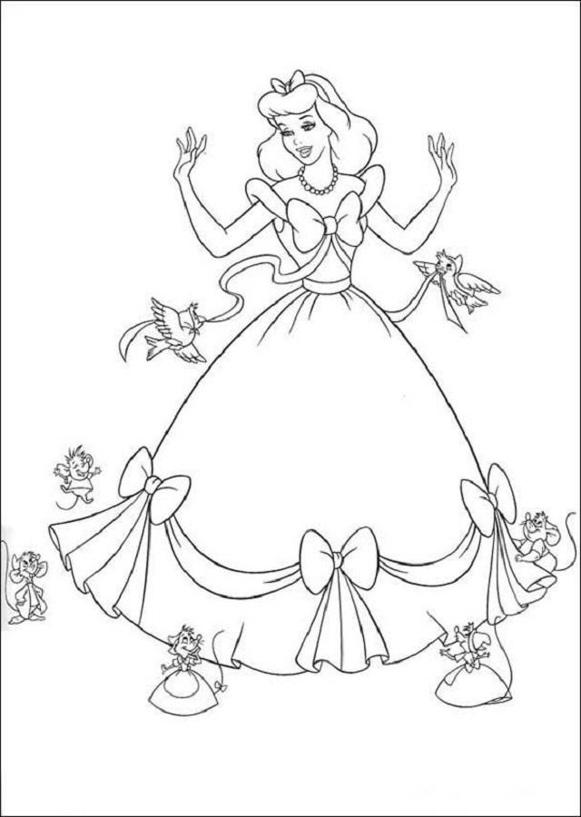 Princesas para colorear 01