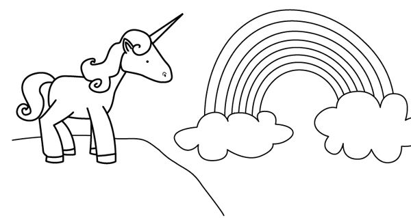 Unicornio dibujo para colorear e imprimir