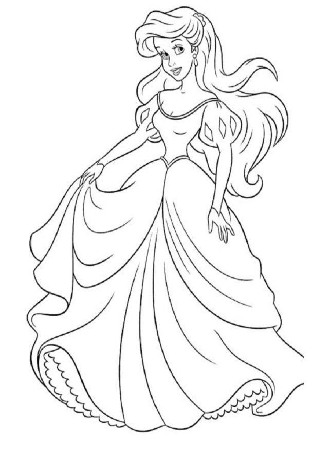 dibujo colorear Ariel elsa
