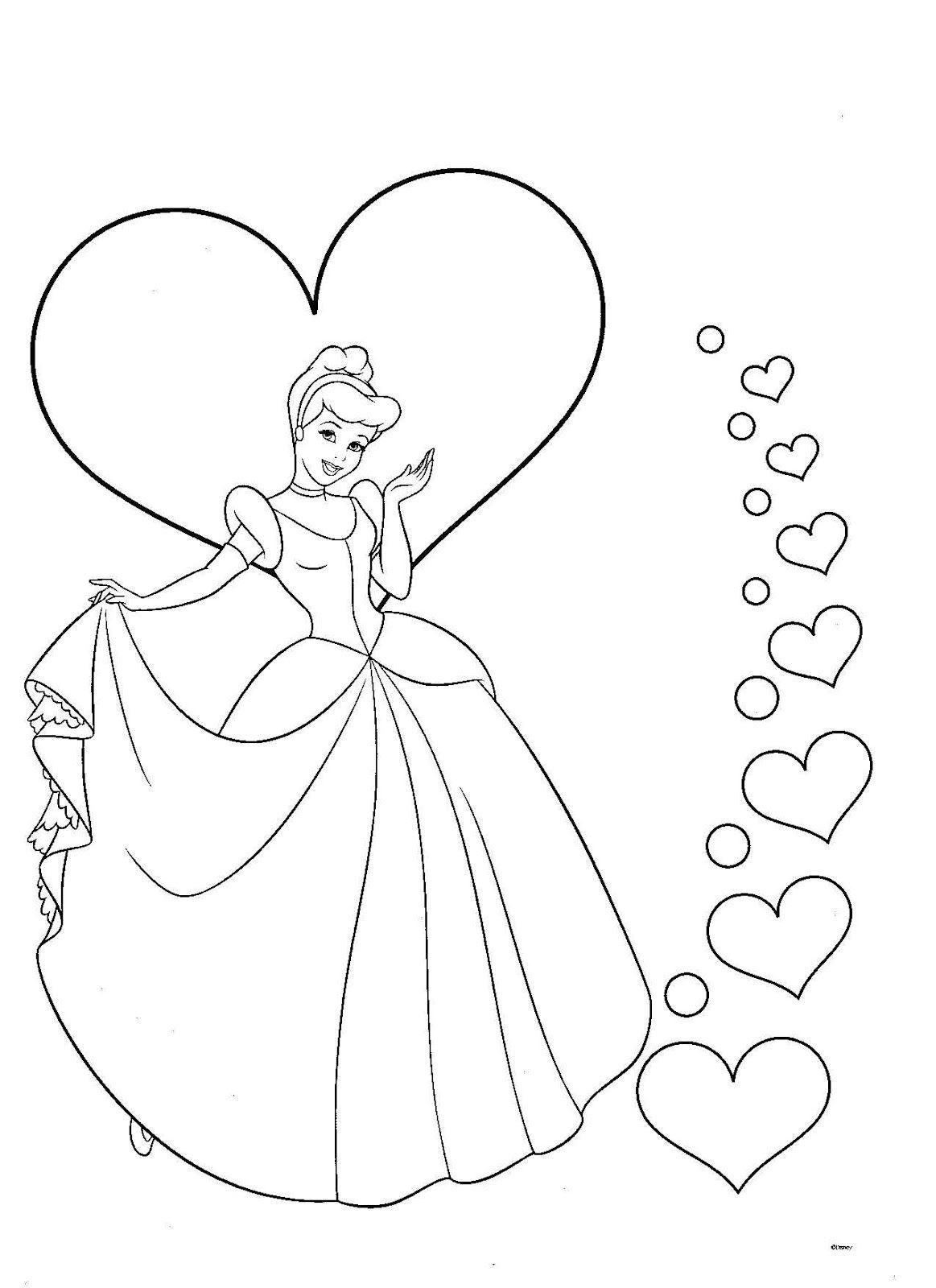 dibujo de princesa para colorear