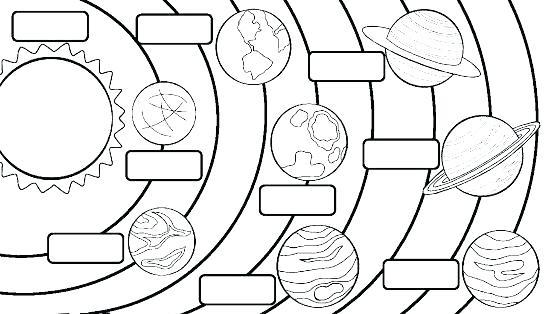 paginas para colorear del sistema solar solar para es a central dibujos para pintar planetas