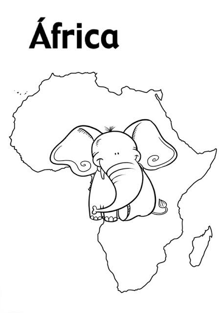 DIBUJOS PARA PINTAR AFRICA Y AFRICANOS