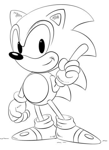 Dibujo de Sonic para colorear