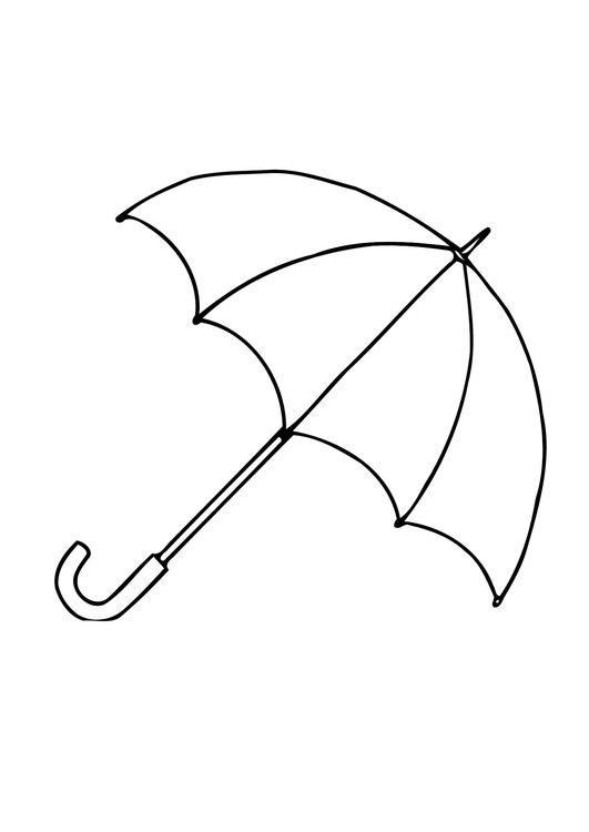 Dibujo para colorear Paraguas
