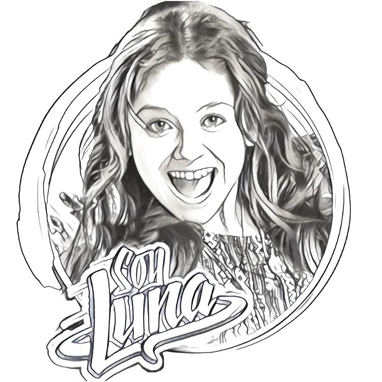 Dibujo para colorear Pedro Soy Luna