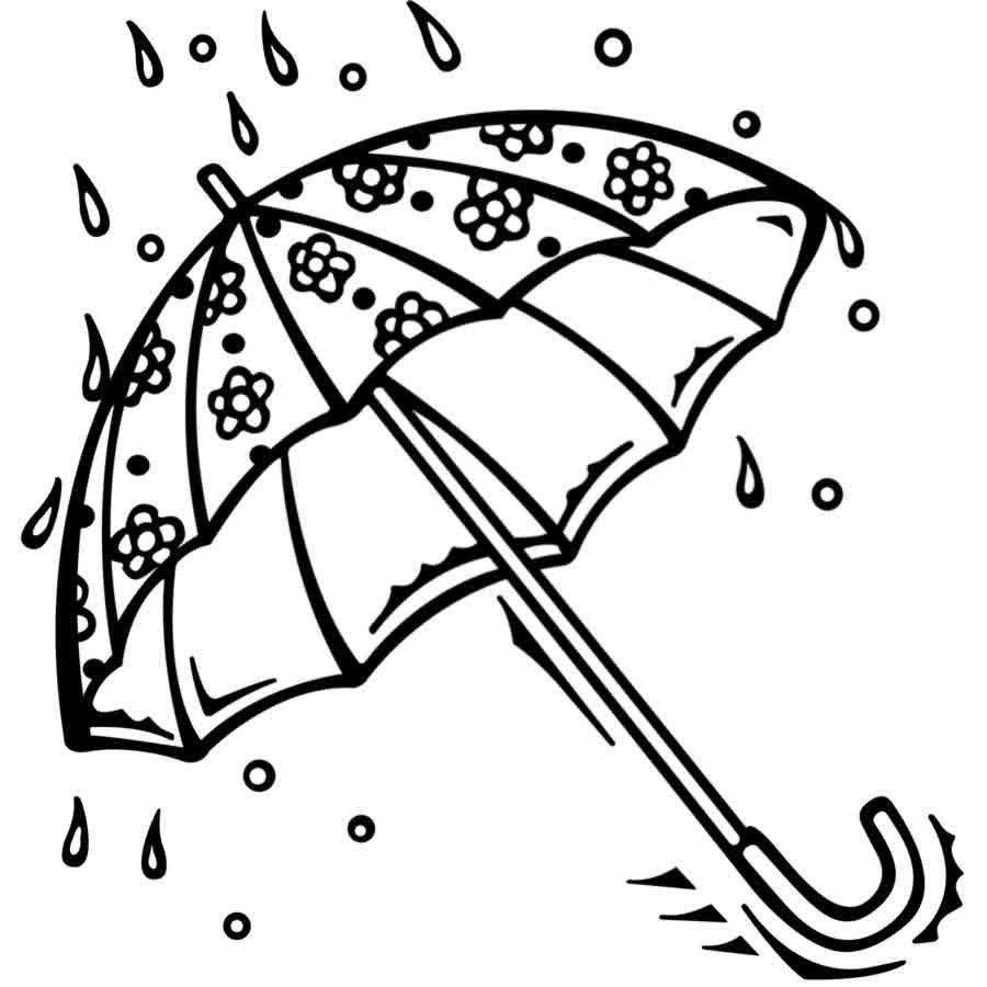Dibujo para colorear de un paraguas