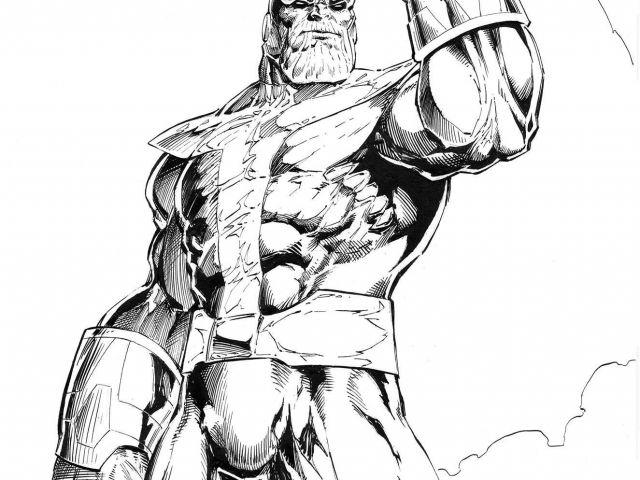 Dibujos Para Colorear Superman Thanos