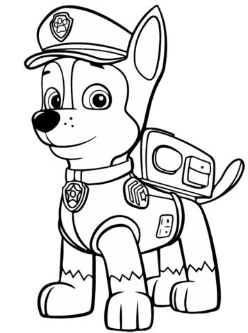Dibujos Para Pintar De Paw Patrol Chase