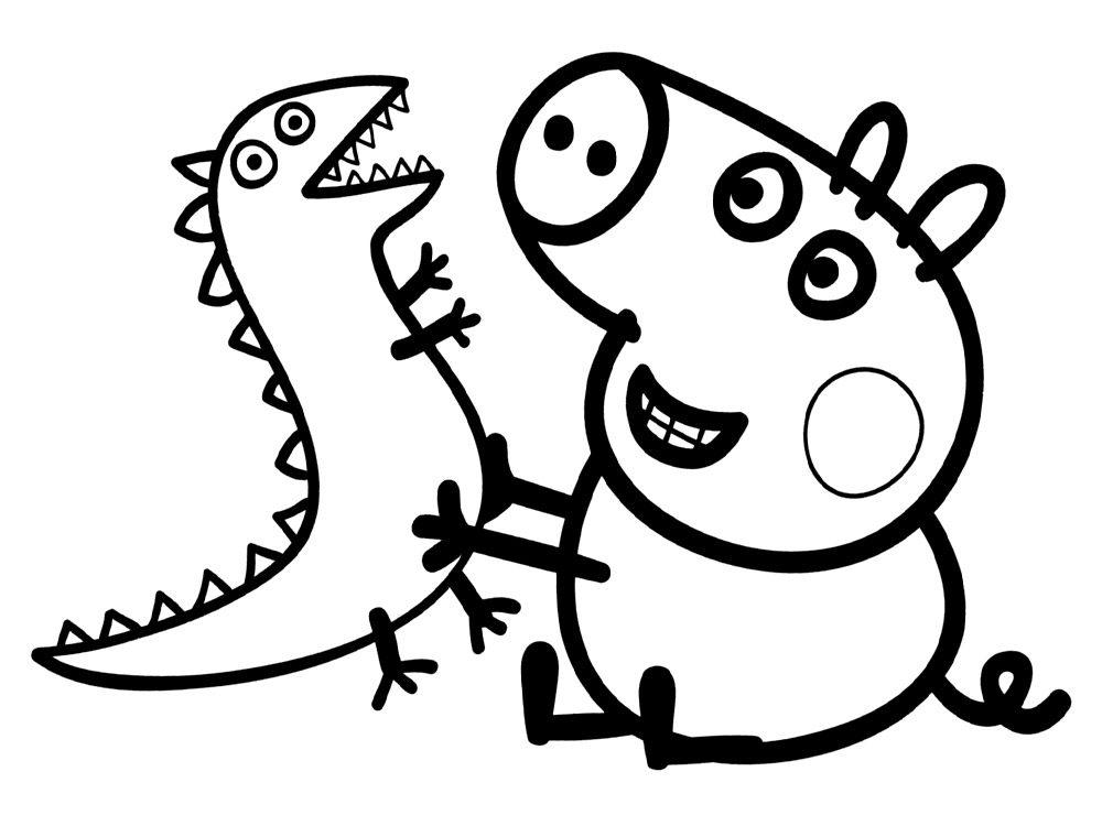 Dibujos Para Colorear Y Pintar Gratis: Dibujos De Peppa Pig Para Colorear