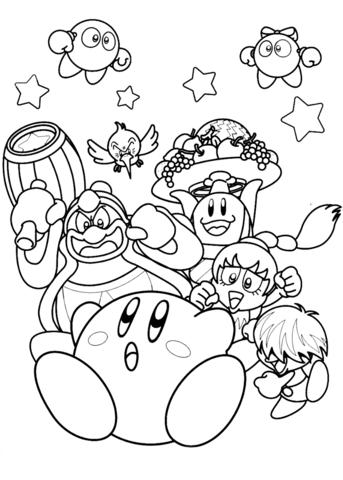Dibujos de Kirby para colorear