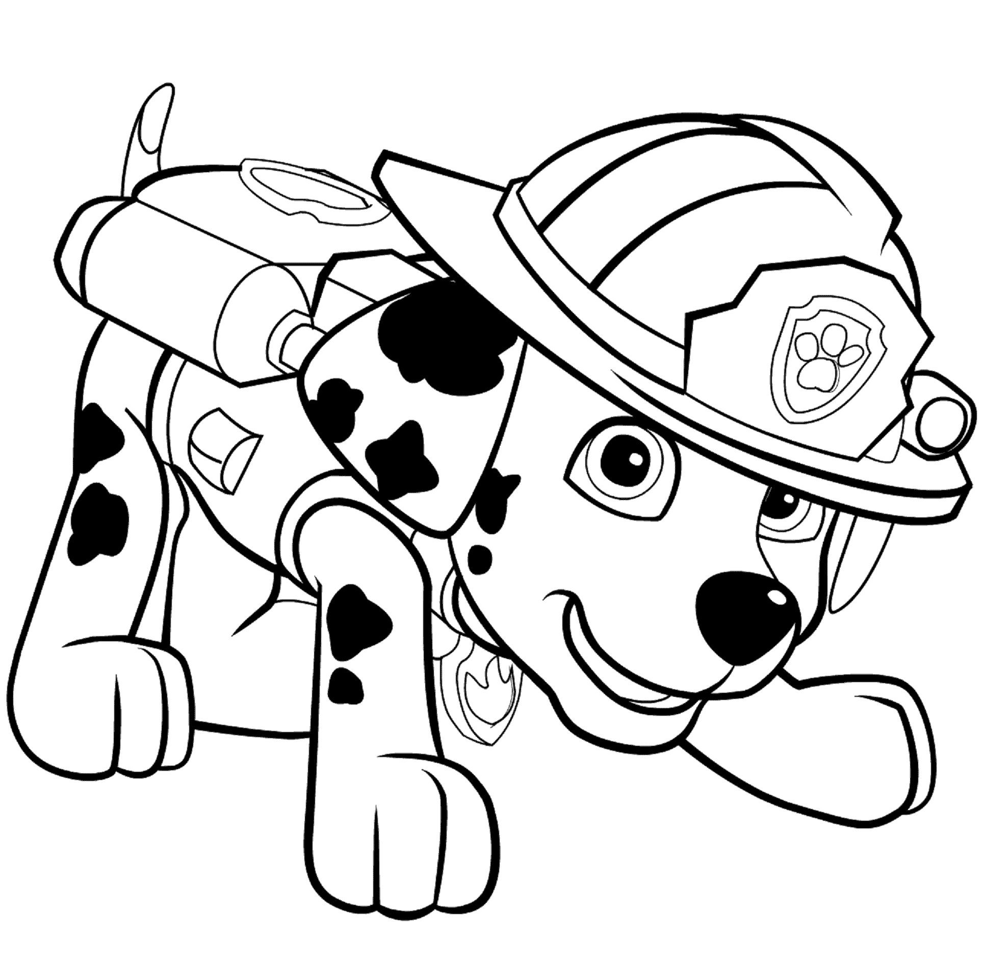 Dibujos de La Patrulla Canina para colorear Marshall