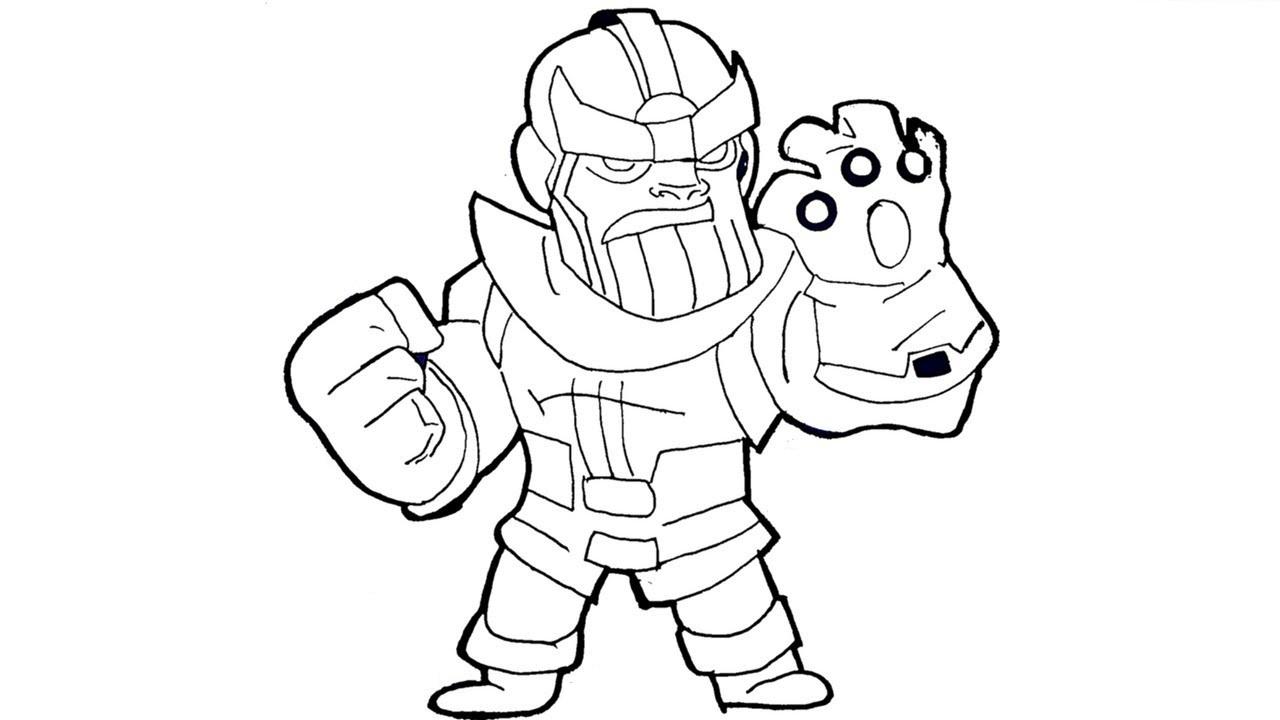 Dibujos de Thanos Pequeño