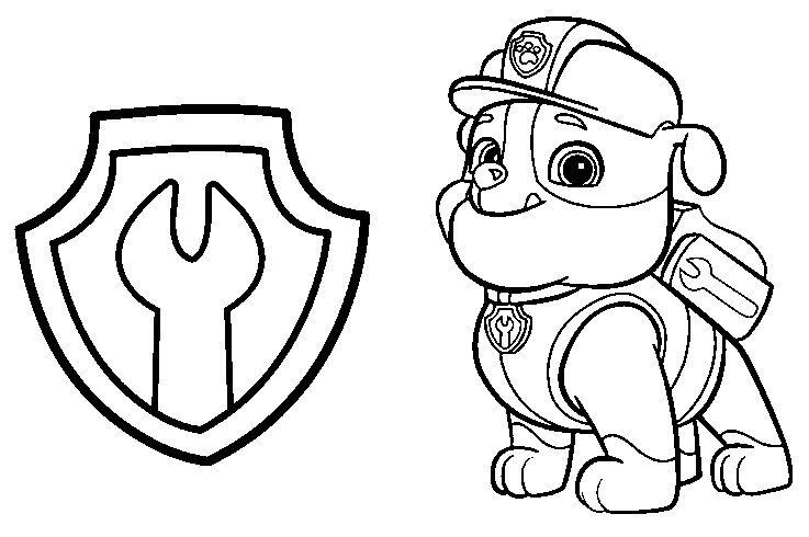 Dibujos para Colorear Infantil Paw Patrol
