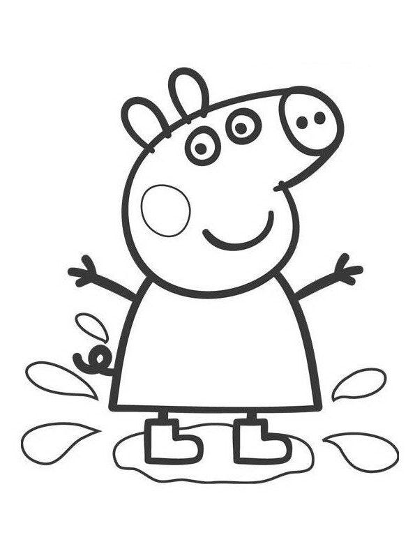 Dibujos para Colorear de Peppa Pig e1549941269536