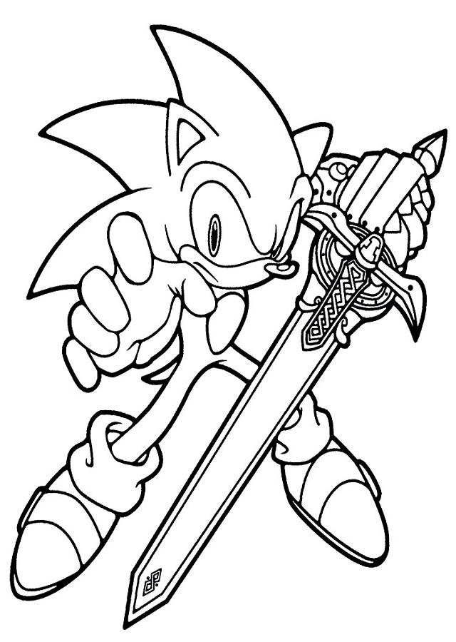 Dibujos para colorear Sonic 01