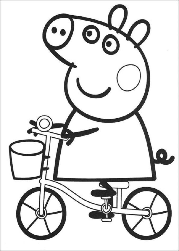 Dibujos para colorear de Peppa Pig 01 e1549941229247