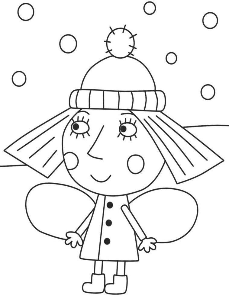 El Pequeño Reino de Ben y Holly dibujos para colorear para niños de preescolar online e1549227196625