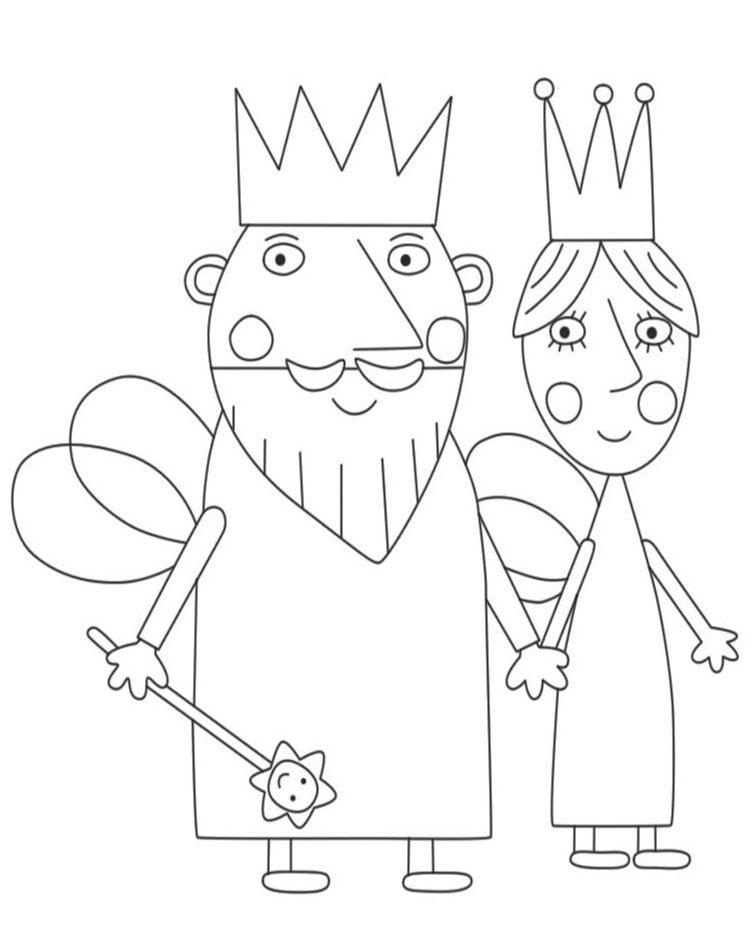 El Pequeño Reino de Ben y Holly dibujos para imprimir e1549227185217