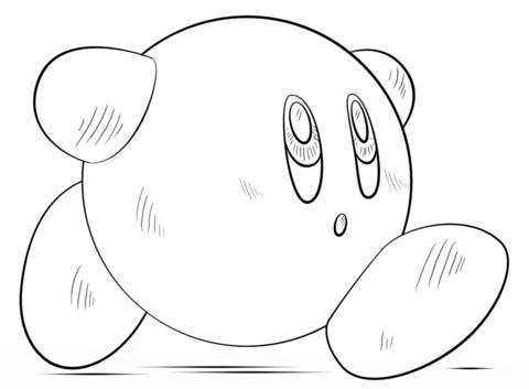 Kirby Dibujo para colorear