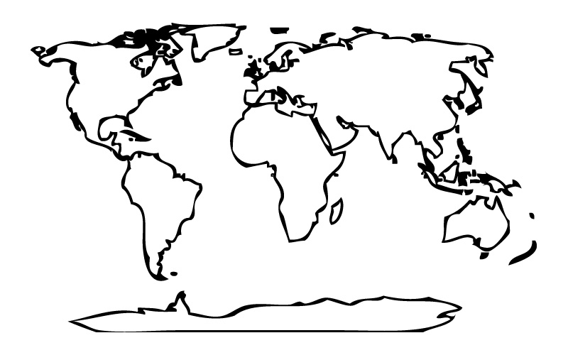 Mapa Mundi Dibujos para colorear