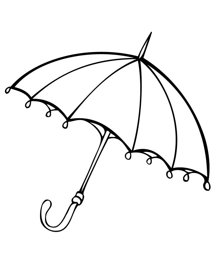 Paraguas dibujo para colorear gratis e1550445302593