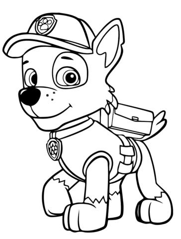 Paw Patrol Rocky Dibujo para colorear