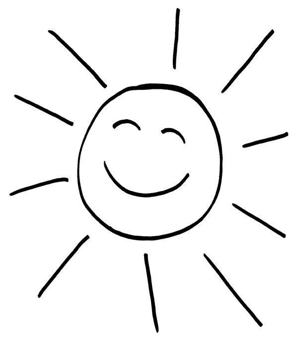 Sol risueño dibujo para colorear e imprimir e1550007913981