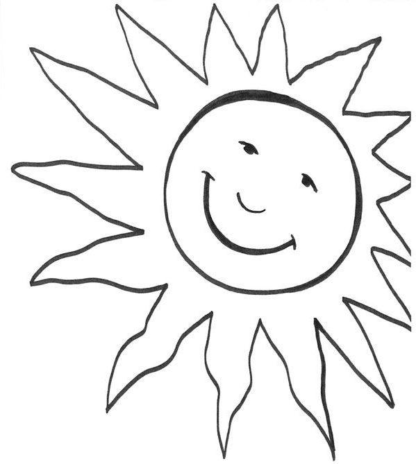 Sol sonriendo dibujo para colorear e imprimir e1550007898607