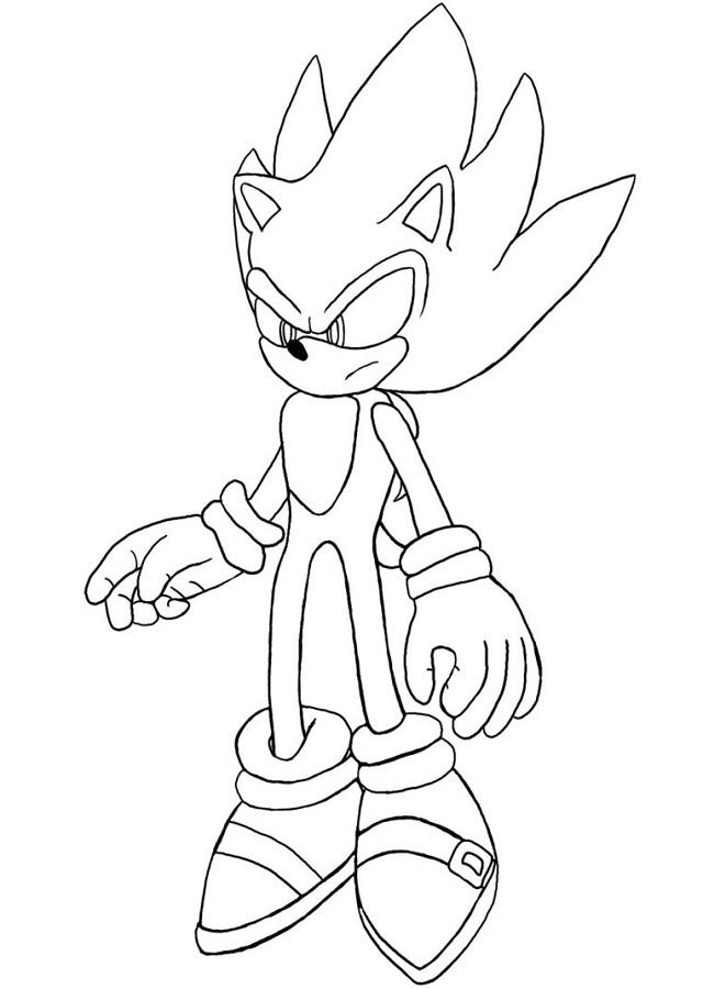 Sonic Para Colorear Dibujos