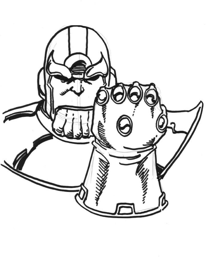 Thanos Dibujos para colorear Historieta Marvel