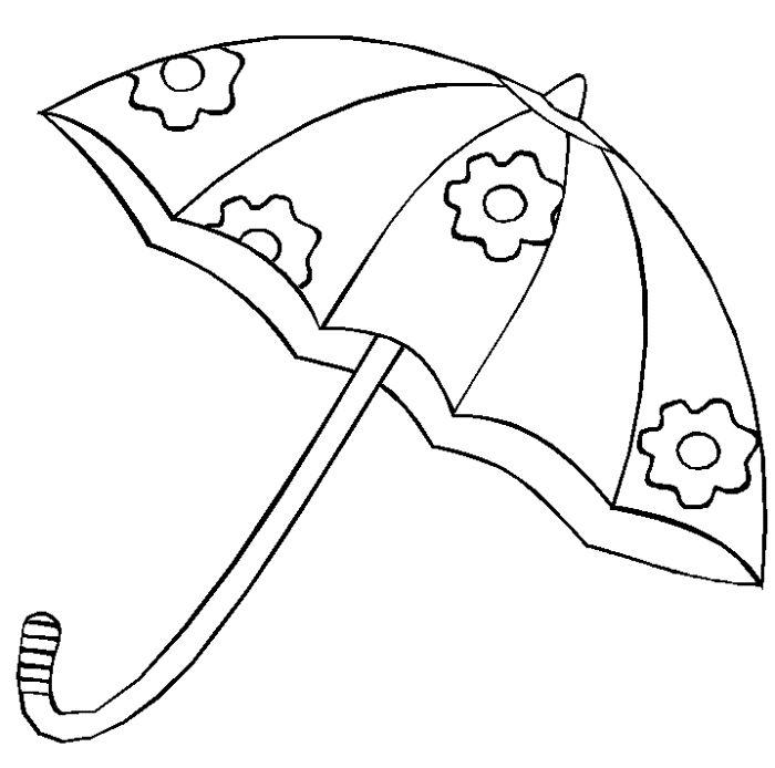 Un lindo paraguas dibujos para colorear