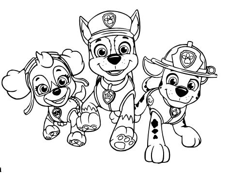 dibujos de paw patrol para colorear.