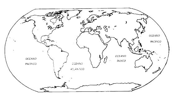 mapa mundi para colorear